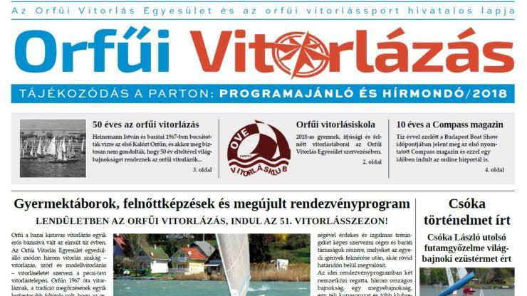 Megjelent az Orfűi Vitorlázás című újság!